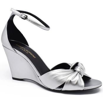 Chaussures Femme Sandales et Nu-pieds Saint Laurent  Argent