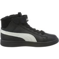 Chaussures Garçon Baskets montantes Puma SMASH V2 MID L FUR Noir