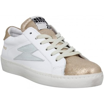 Chaussures Femme Baskets basses Semerdjian Catri cuir velours metal Femme Blanc Champagne Blanc
