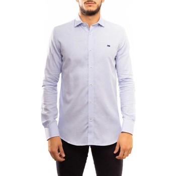 Vêtements Homme Chemises manches longues Klout CAMISA SLIM OXFORD bleu