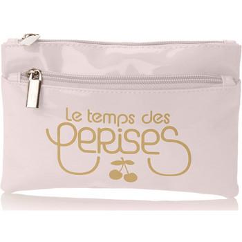 Sacs Femme Trousses Le Temps des Cerises pochette femme Rumba 17 blanc or vernis Blanc