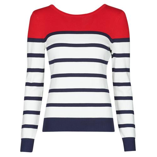 Vêtements Femme Pulls Betty London ORALI Rouge / Ecru