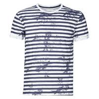 Vêtements Homme T-shirts manches courtes Yurban OLORD Marine / Blanc