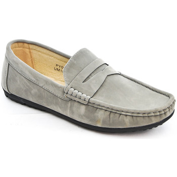 Chaussures Mocassins Uomo Design Mocassin simple homme Marvin gris
