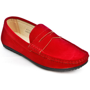 Chaussures Homme Mocassins Uomo Design Mocassin simple homme Marvin rouge
