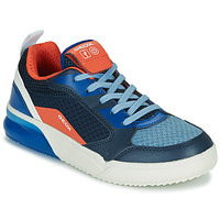 Chaussures Enfant Baskets basses Geox J GRAYJAY BOY Bleu / Orange