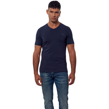 Vêtements Homme T-shirts manches courtes Kaporal Pack x2 shirts Gift navyre col v Bleu