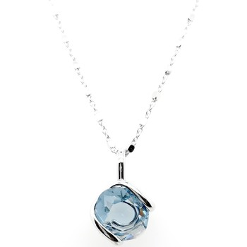 Montres & Bijoux Femme Colliers / Sautoirs Andrea Marazzini Collier Marazzini Wave Collection Denim Blue Blanc