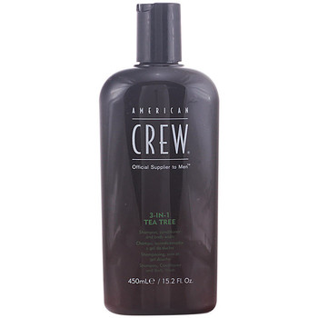 Beauté Shampooings American Crew TEA TREE 3 IN 1 SHAMPOOING, CONDITIONER ET CORPS WASH 450ML