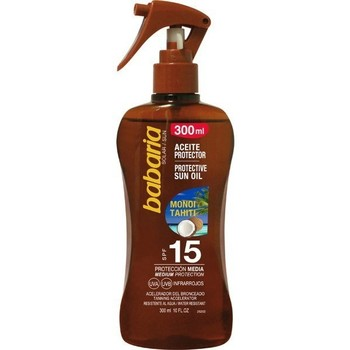 Beauté Homme Protections solaires Babaria HUILE SOLAIRE SPF15 SPRAY 300ML MONOI TAHITI