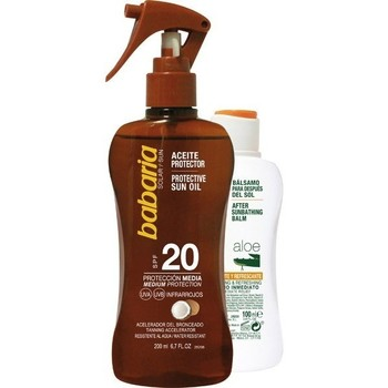 Beauté Protections solaires Babaria HUILE DE COCO SPF20 200ML + 100ML AFTERSUN