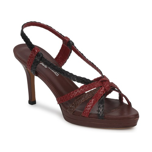 Stéphane Kelian PRISCILLE Marron / Rouge - Livraison Gratuite avec  - Chaussures Sandale Femme