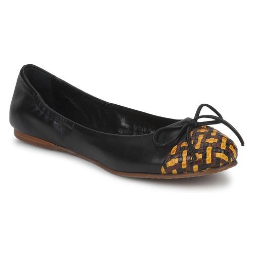 Chaussures Femme Ballerines / babies Stéphane Kelian WALLY Noir / Jaune