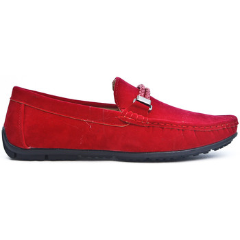 Chaussures Mocassins Uomo Design Mocassin Homme Maddox rouge