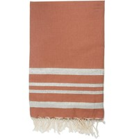 Maison Serviettes de table Nappes, Sets de table Febronie HAMPTONS - Nappe en coton 150x250 Rouge et argent