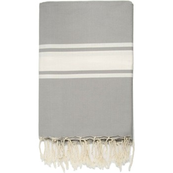 Maison Serviettes de table Nappes, Sets de table Febronie ST TROPEZ - Nappe en coton 150x250 Gris perle