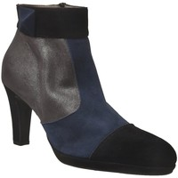 Chaussures Femme Bottines Brenda Zaro F97563 Noir/Bleu