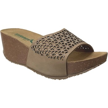 Chaussures Femme Mules Bionatura TELL ETNIC Taupe nubuck