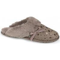 Chaussures Femme Chaussons Isotoner chaussons suédine étoiles 97168 taupe Gris