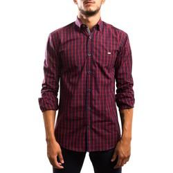 Vêtements Homme Chemises manches longues Klout CAMISA REGULAR CUADRO rouge