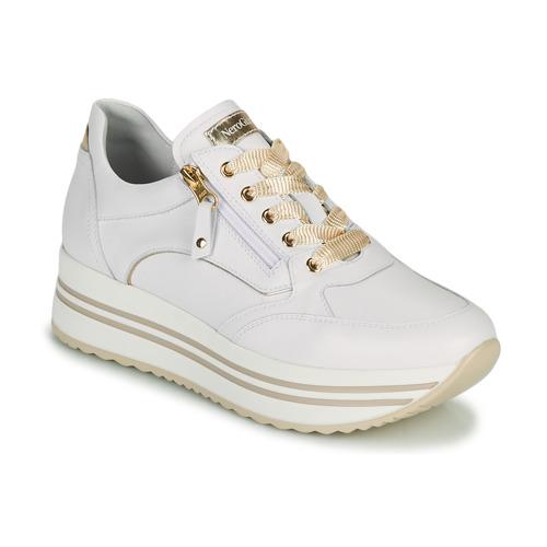 Chaussures Femme Baskets basses NeroGiardini DAKOTA Blanc