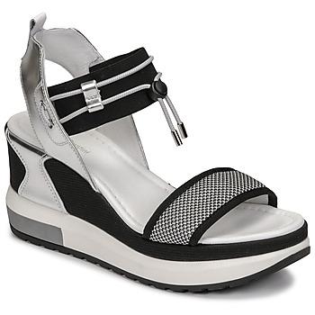 Chaussures Femme Sandales et Nu-pieds NeroGiardini CAMINO Noir / Argenté