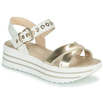 Chaussures Femme Sandales et Nu-pieds NeroGiardini TIMMA Blanc / Doré