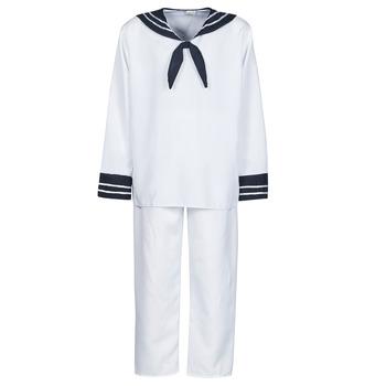 Vêtements Homme Déguisements Fun Costumes COSTUME ADULTE MARIN BLANC Blanc
