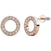 Montres & Bijoux Femme Boucles d'oreilles Myc Paris Puce d'Oreilles Or Rosé / Cristal