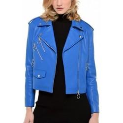 Vêtements Femme Vestes en cuir / synthétiques Arturo Dakota Bleu Bleu