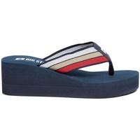 Chaussures Femme Tongs Big Star FF274A301 Bleu marine