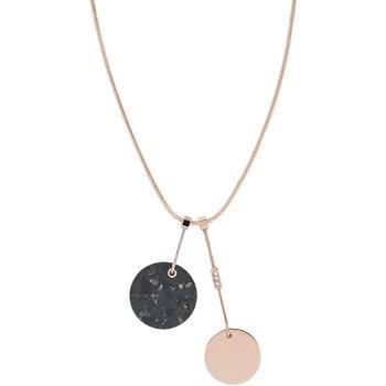 Montres & Bijoux Femme Colliers / Sautoirs Skagen Collier  Ellen doré rose marbre noir Rose