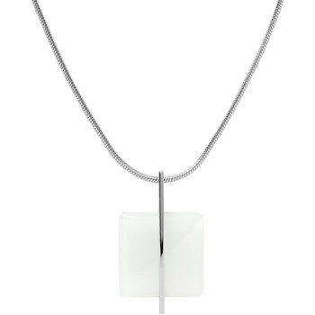 Montres & Bijoux Femme Colliers / Sautoirs Skagen Collier  Sea Glass blanc Blanc