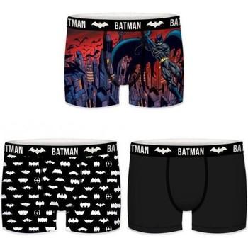 Sous-vêtements Garçon Boxers Dc Comics Lot de 3 Boxers Garçon Microfibre BMX3 LOT10 Batman Noir