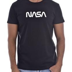 Vêtements Homme T-shirts manches courtes Nasa BIG WORM O NECK Noir