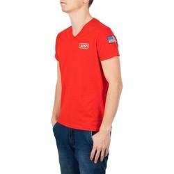 Vêtements Homme T-shirts manches courtes Nasa BASIC FLAG V NECK Rouge