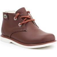 Chaussures Enfant Boots Lacoste Sherbrook HI SB SPC 7-30SPC201177T brązowy