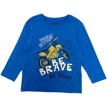 Vêtements Garçon T-shirts manches longues Losan 025-1201AL Bleu