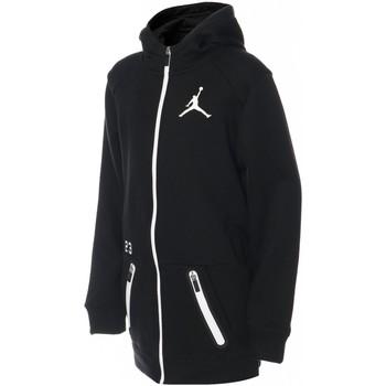 Vêtements Enfant Sweats Air Jordan -  Sweat à capuche zippé - Enfants Noir