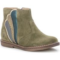 Chaussures Fille Bottines Pom d'Api CITY WHEEL KAKI