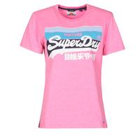 Vêtements Femme T-shirts manches courtes Superdry VL CALI TEE 181 Rose