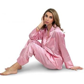 Vêtements Femme Pyjamas / Chemises de nuit Kebello Pyjama fluide en satin Taille : F Rose S Rose