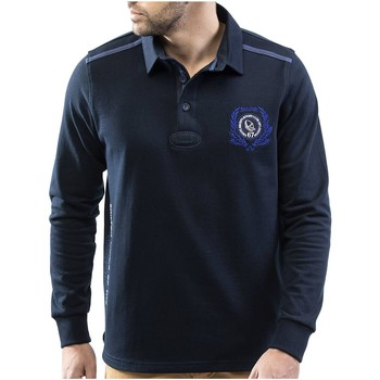 Vêtements Homme Polos manches longues Shilton Polo rugby manches longues LONDON Bleu marine