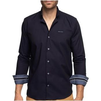 Vêtements Homme Chemises manches longues Shilton Chemise manches longues col inversé Bleu marine