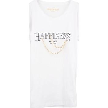 Vêtements Femme T-shirts manches courtes Happiness Superbes chaines en te blanches  HAPSPLDALA Blanc