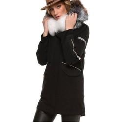 Vêtements Doudounes Arturo Bueno Noir Col Blanc Noir
