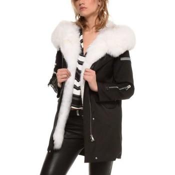 Vêtements Doudounes Arturo Arizona Noir Col Blanc Noir