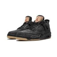 Chaussures Baskets montantes Nike Air Jordan 4 Levi's Black Black/Black