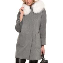 Vêtements Femme Manteaux Arturo Aya Gris col Blanc Gris