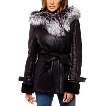 Vêtements Femme Vestes en cuir / synthétiques Arturo Oxana Noir Noir